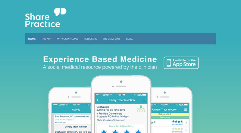SharePractice--Social-medical-reference-for-clinicians